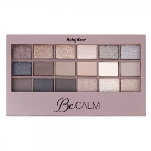 Paleta de Sombras Ruby Rose Be Calm 18 Cores HB9928