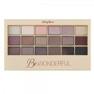 Paleta de Sombras Ruby Rose Be Wonderful 18 Cores HB9925