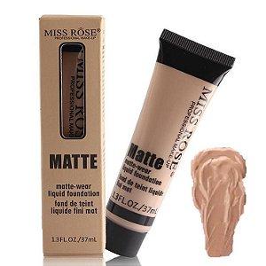 Base Matte Miss Rose de Alta Cobertura 37ml Cor Bege 5