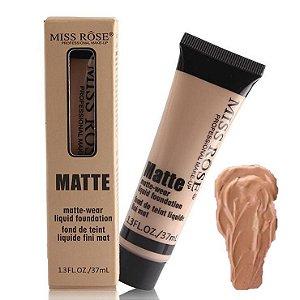Base Matte Miss Rose de Alta Cobertura 37 ml Cor Bege 7