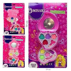 Kit de Maquiagem Infantil Grande 30 x 19cm Misaki 57P - Kit C/ 6 Unid ( 3 Mod Sortidos )