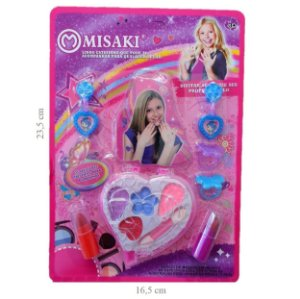 Kit de Maquiagem Infantil 23 x 16 cm Misaki 157G - Kit C/ 12 Unid ( 2 Modelos )