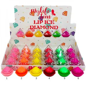 Lip Balm Hidratante Labial Diamond Mylife MY7131 - Display C/ 24 Unid