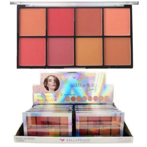 Paleta de Blush Candy 8 Tons Bella Femme BF10057 - Display C/ 12 Unid