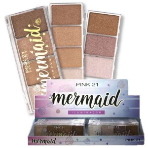 Paleta de Iluminador Mermaid Pink 21 CS2377 - DIsplay C/ 12 Unid