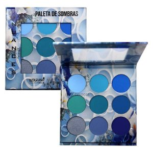 Ludurana - Paleta de Sombras 9 Cores Nuance Azul B00004