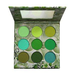 Paleta de Sombras 9 Cores Ludurana Nuance Verde B00008