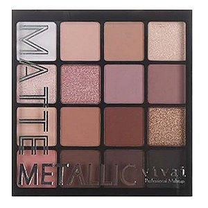 Nova Coleção Paleta de Sombras Matte Metalic Vivai 2193 - Cor 2