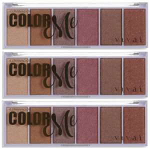 Paleta de Iluminador Facial em Pó Color Me Vivai 4039 - Kit C/ 3 Unid