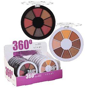 Paleta de Sombras Matte e Metalica 360 Vivai 4040 - Display C/ 12 Unid