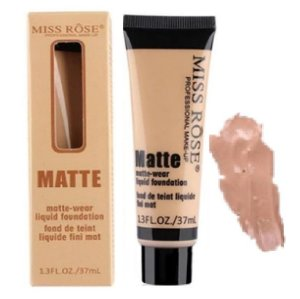 Base Matte Miss Rose de Alta Cobertura 37 ml Cor Bege 6
