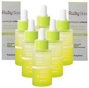 Sérum Facial Antioxidante Proteção Urbana Skin Care Ruby Rose HB415 - Kit C/ 6 Unid