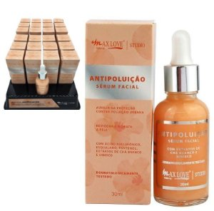 Serum Facial Hidratante Antipoluição Max love - Display com 24 Unid + prov