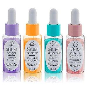Serum Facial Verão Skin Fenzza FZ26001 - Kit C/ 4 Unidades