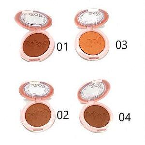 Blush Facial Compacto Matte Coleção Amora Dapop DP2012 - Kit c /4 unidades