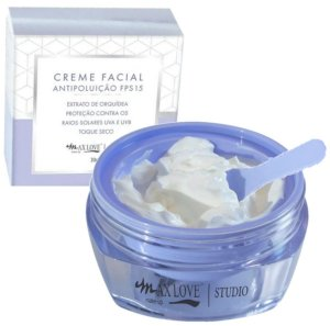 O Creme Facial Antipoluição FPS15 Max Love - Display C/18 Unid