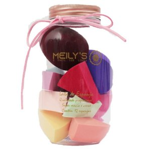 Kit de 12 Esponjas no Pote Meily´s Mac296 - 6 Kits