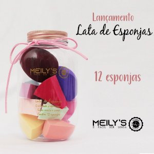 Kit de 12 Esponjas no Pote Meily´s Mac296