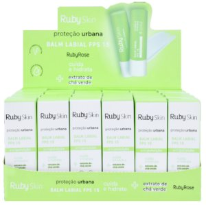 Ruby Rose - BALM LABIAL FPS15 RUBY SKIN PROTEÇÃO URBANA  HB558 - Display C/ 24 Unid