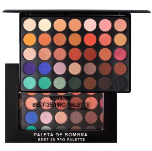 Paleta Grande de Sombras Best 35 Pro SP Colors SP120 -  4 Unidades