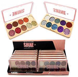 Paleta de Sombras e Glitter Shine+ Vivai 4026 - Display com 12 unidades