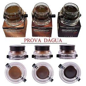 Pigmento para Sobrancelhas a Prova D'Água com Pincel Vivai 4021 - Kit C/ 3 Unid