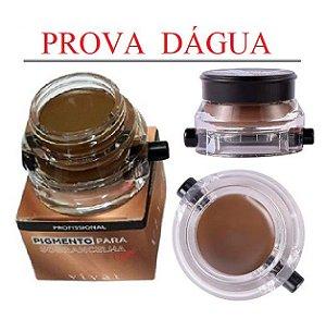 Pigmento para Sobrancelhas a Prova D'Água com Pincel Vivai 4021 - Cor 1