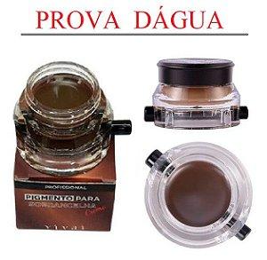 Pigmento para Sobrancelhas a Prova D'Água com Pincel Vivai 4021 - Cor 2