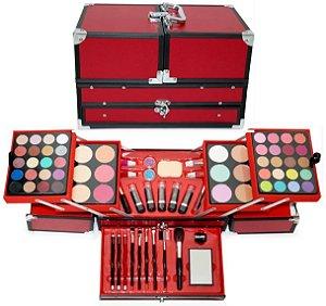 Jasmyne - Maleta de Maquiagem Completa  JS06059 - Vermelha