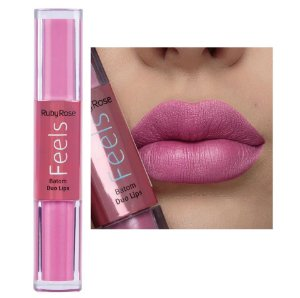 Batom Duo Lips Feels Ruby Rose HB8225 Cor 357