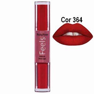 Batom Duo Lips Feels Ruby Rose HB8225 Cor 364