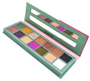 Paleta de Sombras com Espelho e 14 Cores Style SP Colors SP112-B
