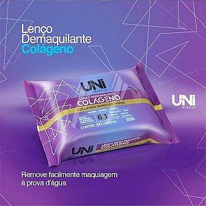 Lenço Demaquilante Colágeno Uni Makeup - Kit C/ 6 Unid