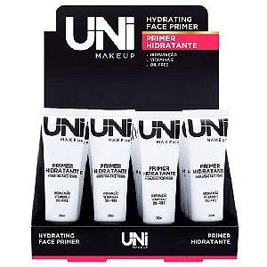 Uni Makeup - Primer Facial Hidratante com Vitamia E / Oil Free - Display C/ 24 Unid