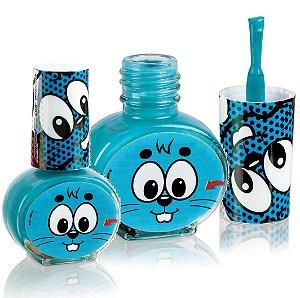 Esmalte Infantil Hipoalergenico a Base de Agua Turma da Monica -  Cor Azul em Cartela