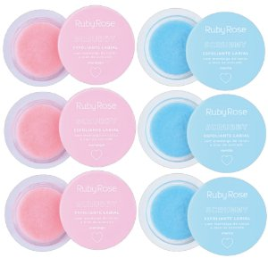 Scrubby Esfoliante Labial Ruby Rose HB8525 - Kit C/ 6 Unidades ( 3 cada )