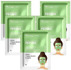 Mascara Facial Peel Of Pepino Max Love Sache  - Kit C/ 5 Unidades