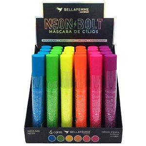 Máscara de Cílios Neon Bolt Bella Femme BF10095 – Box c/ 24 unid