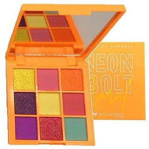 Paleta de Sombras Neon Bolt Bella Femme BF10097 – Coral