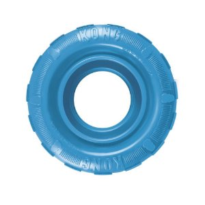 Brinquedo Recheável Kong Puppy Tires Azul para Cães Filhotes