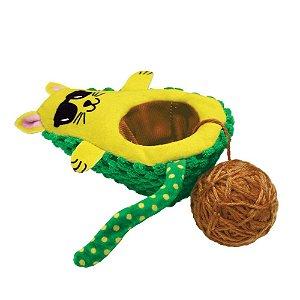 Brinquedo Kong Wrangler AvoCATo com Catnip para Gatos