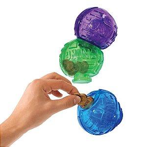 Brinquedo Recheável Kong Lock-It com 3 Unidades para Cães