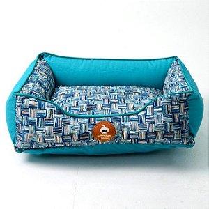 Cama Impermeável para Cachorros | Gatos Modern Art Azul