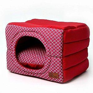 Cama Cabana Flex para Cachorros  | Gatos Arabesco Vinho