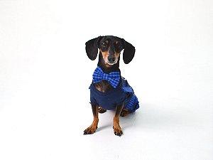 Laço/Gravata para Cachorros  | Gatos Xadrez Azul