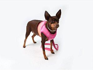 Peitoral com Guia para Cachorro Colours Rosa