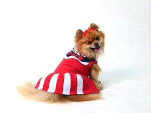 Vestido para Cachorros   Gatos Cheer Leader