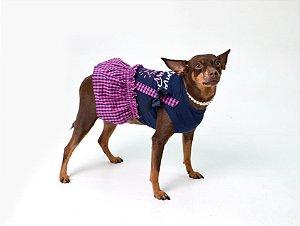 Vestido para Cachorros   Gatos Xadrez