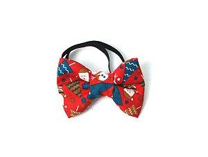 Laço/Gravata para Cachorros Christmas Vermelho