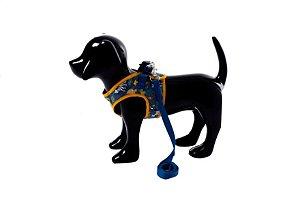 Peitoral com Guia para Cachorro Selva Azul